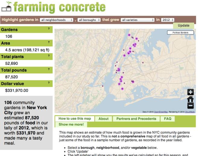 Farming Concrete Interactive Map