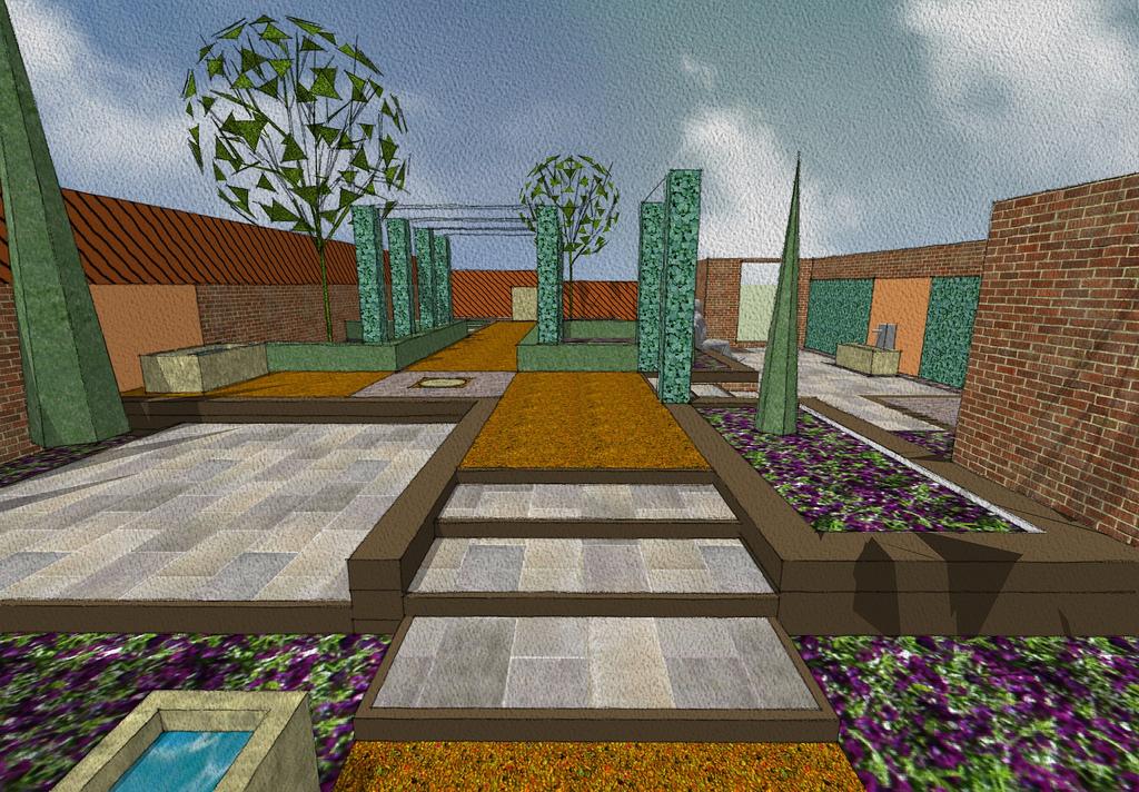 Make a garden map new york city garden maps for Sketchup design