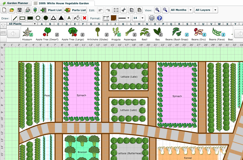 Make a garden map new york city garden maps Better homes and gardens house painting tool
