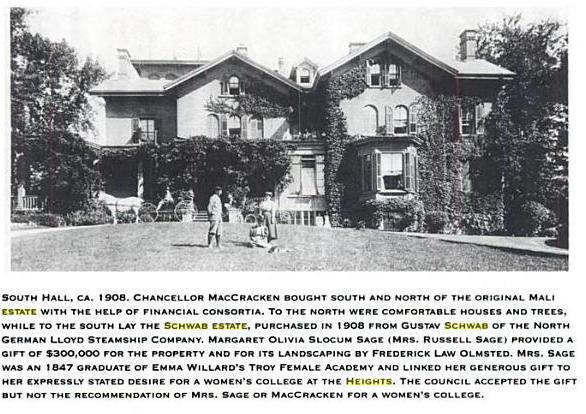 Schwab Estate, South Hall, New York Univeristy, 1908