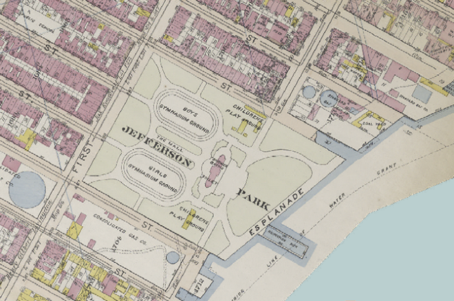 Thomas Jefferson Park as of 1911